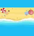 beach sun umbrellas flip-flops and beach vector image vector image