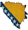 Bosnia and Herzegovina map with flag inside vector image vector image