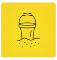 Bucket icon Trash bin sign Garden equipment vector image vector image