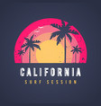 california surf session tshirt design vector image