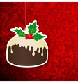 Christmas background with pudding vector image vector image
