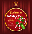 christmas sale special discount and clearance vector image vector image