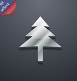 Christmas tree icon symbol 3D style Trendy modern vector image vector image