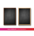 collection vertical menu boards vector image vector image