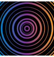 Colorful Circles Black background vector image vector image