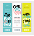cooking class quotes vector image