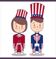 couple wear celebration usa america patriotism vector image