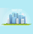 creative of smart city urban vector image