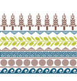 cute seamless border with olives wheat and greek vector image