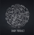 dairy product page design blackboard style vector image vector image
