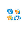 digital document cloud template set vector image vector image