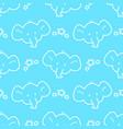doodle elephant pattern vector image