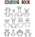 Farm animal coloring book vector image vector image