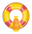 float lifeguard with solar bloquer bottle vector image