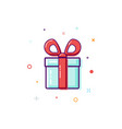 gift box surprise concept isolated on white vector image