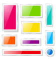 Glass plates of different colors vector image vector image