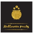 Halloween gold textured pot icon vector image vector image
