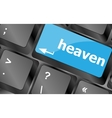 Heaven button on the keyboard keys Keyboard keys vector image vector image