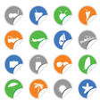 icon on the stickers color vector image