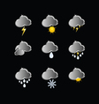 icons for weather forecast vector image vector image