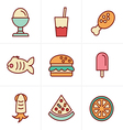 Icons Style Food Icons Set Design vector image vector image