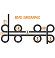 infographics a winding road and a circular motion vector image vector image