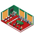 interior casino isometric view vector image vector image