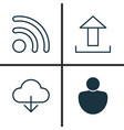 internet icons set collection of wifi user vector image vector image