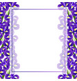 iris flower banner card border vector image