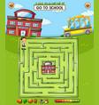 kids school maze game vector image
