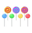 lollipops colored sugar candies vector image