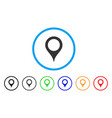 map pointer rounded icon vector image vector image