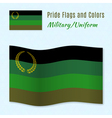 Military or Uniform pride flag with correct color vector image vector image