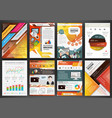 orange business brochure templates with vector image