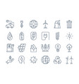 outline eco icons vector image vector image