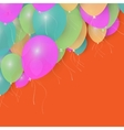 Party Balloons Background for your Text Stock vector image vector image