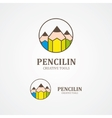 Pencil logo element vector image vector image