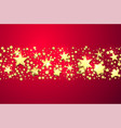 pink shiny background with gold stars vector image