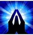 prayer vector image vector image