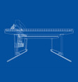 rail-mounted gantry container crane outline vector image vector image