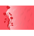 red background with rose vector image vector image