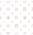 residence icons pattern seamless white background vector image vector image