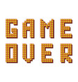 retro game over sign on white background gaming vector image vector image