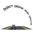 road traffic do not drink drive message vector image vector image