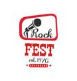 rock fest legendary logo since 1976 black and vector image vector image