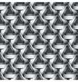 Seamless geometric pattern with grey ribbons vector image vector image