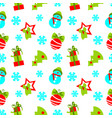 seamless pattern of christmas decoration vector image vector image