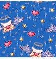 seamless pattern with love letters and vector image vector image