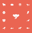 set of 13 editable zoo icons includes symbols vector image vector image