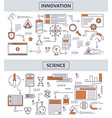 set of modern thin line science innovation vector image vector image